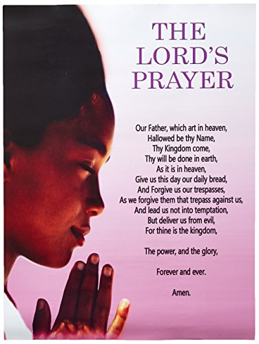 777 Tri-Seven Entertainment The Lord's Wall Poster Girls Scripture Prayer God Christian African American, 18