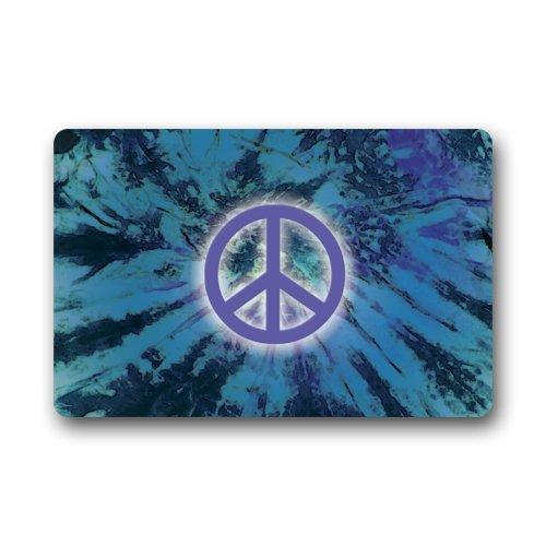Cool Peace Sign (Fantastic Doormat Cool World Peace Sign Art Door Mat Rug Indoor/Outdoor/Front Door/Bathroom Mats£¬Bedroom Doormat 23.6