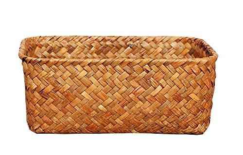 Seagrass Basket Weaved Rectangular Storage Cube Basket Organ