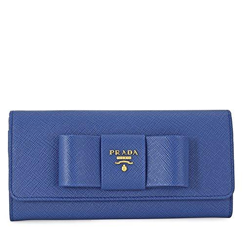 4bde10ae1ad0 Prada Continental Saffiano Leather Wallet - Fiocco Azzurro: Amazon.ca:  Watches