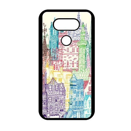 Anti-dust LG G6 Snap-on Protective Cover Amazing City Scenery Drawing