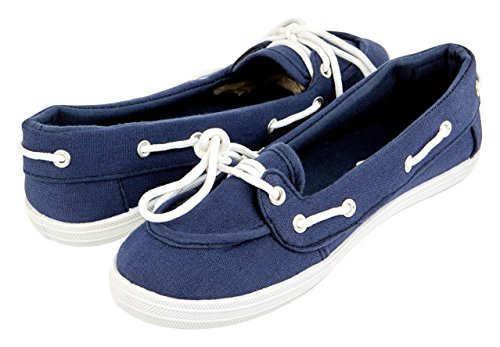Floopi 7 Sneaker Shoe Fashion Canvas SN102 Basic 5 Womens Casual Navy Boat pAxq8rwpY