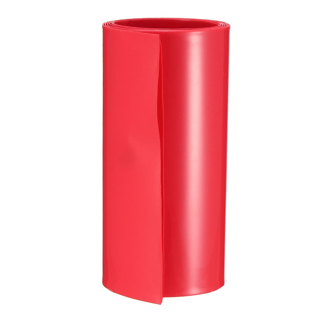 sourcing map Battery Wrap PVC Heat Shrink Tubing 50mm Flat Width for 18650 2 Meters Length Black