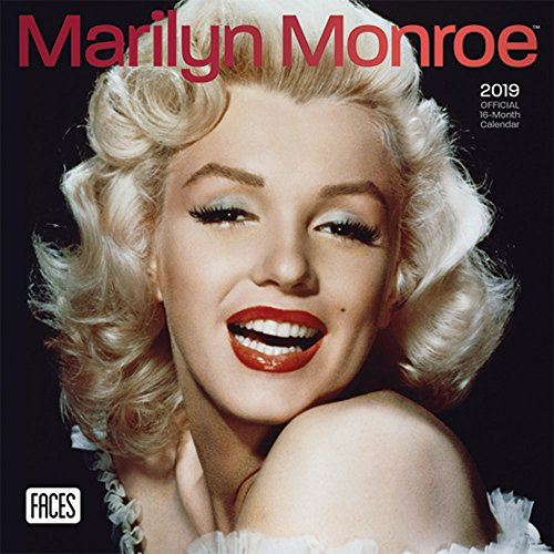 Marilyn Monroe 2019 7 x 7 Inch Monthly Mini Wall Calendar by Faces with Foil Stamped Cover, USA American Actress Celebrity