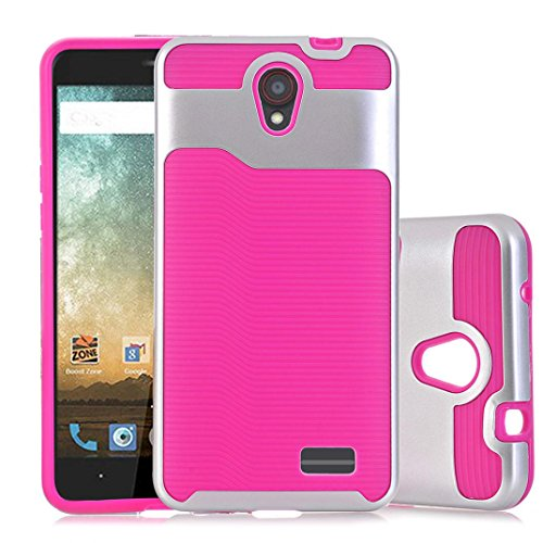 Livoty Hard Soft Rubber Armor Case Cover For ZTE Avid Trio Z831 (pink)