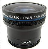 Professional FISHEYE Wide Angle 0.18X Lens Kit For Nikon Coolpix L330 L340 L320 L310 + Adapter