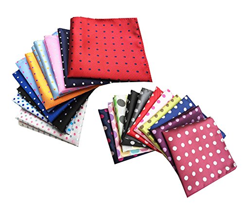 COCOUSM-Mix-Pack-of-Mens-Polka-Dot-PolySilky-Pocket-Square-Pack