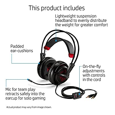OMEN by HP Wired Gaming Headset with SteelSeries (Black)