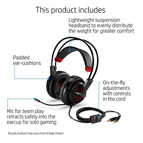 [해외]OMEN, HP 유선 게임용 헤드셋 SteelSeries (블랙)/OMEN by HP Wired Gaming Headset with SteelSeries (Black)