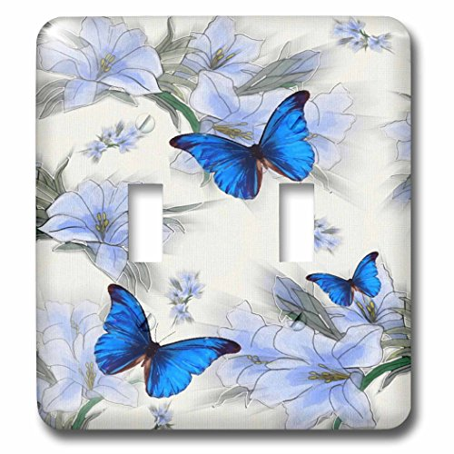 SmudgeArt Designs 2016 - Butterflies - Light Switch Covers - double toggle switch (lsp_239342_2)