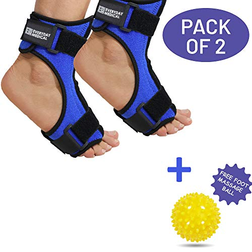 Pack of 2 Plantar Fasciitis Night Stretching Splint, Plantar Fasciitis Arch Support for Better Stability, Plantar Fascia Night Splint, Relief from Achilles Tendonitis, Arch Foot and Heel Pain – Blue