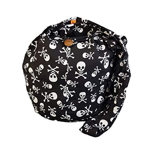 BTP! Skull Punk Rock Hippie Hobo Thai Cotton Sling Crossbody Bag Messenger Purse Small (Black) (Hippie Rock)