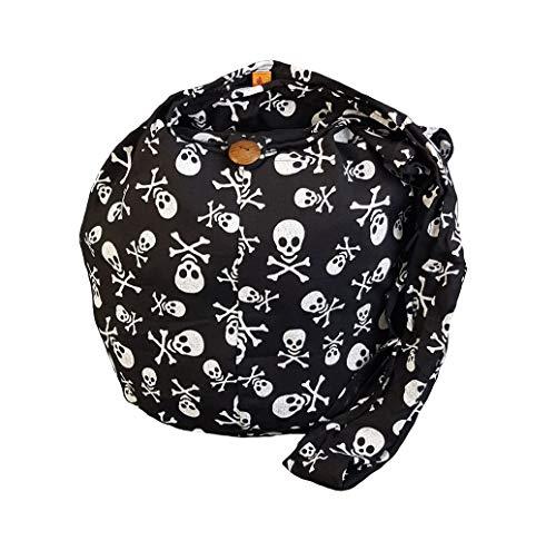 BTP! Skull Punk Rock Hippie Hobo Thai Cotton Sling Crossbody Bag Messenger Purse Small ()