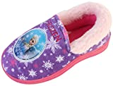 Joah Store Slippers for Girls Disney Frozen Elsa Warm Fur Comfort Indoor Shoes (11 M US Little Kid, Frozen Elsa)