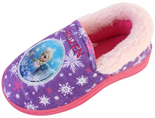 Joah Store Slippers for Girls Frozen Elsa Warm Fur Comfort Indoor Shoes