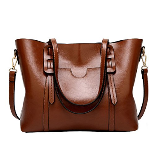 Coffee Women's Shoulder YSANBAG Handle Shoulder Leather Vintage PU Bag Bags Top Tote Handbags ZxHBw7q1xf