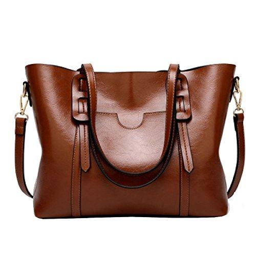 Coffee Women's Shoulder YSANBAG Handle Shoulder Leather Vintage PU Bag Bags Top Tote Handbags ZxHBw7q1xf