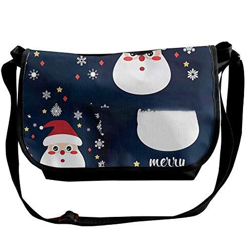 Christmas Versipacks Messenger Fashion Men's Merry Black Snow Handbag Travel Bags Claus Bag Santa BwHTdq0