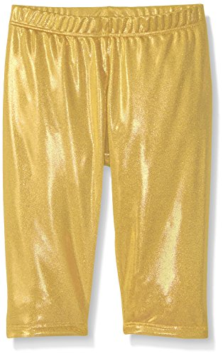 Gia Mia Dance Big Girls Metallic Capri Pant, Gold, Medium by Gia Mia