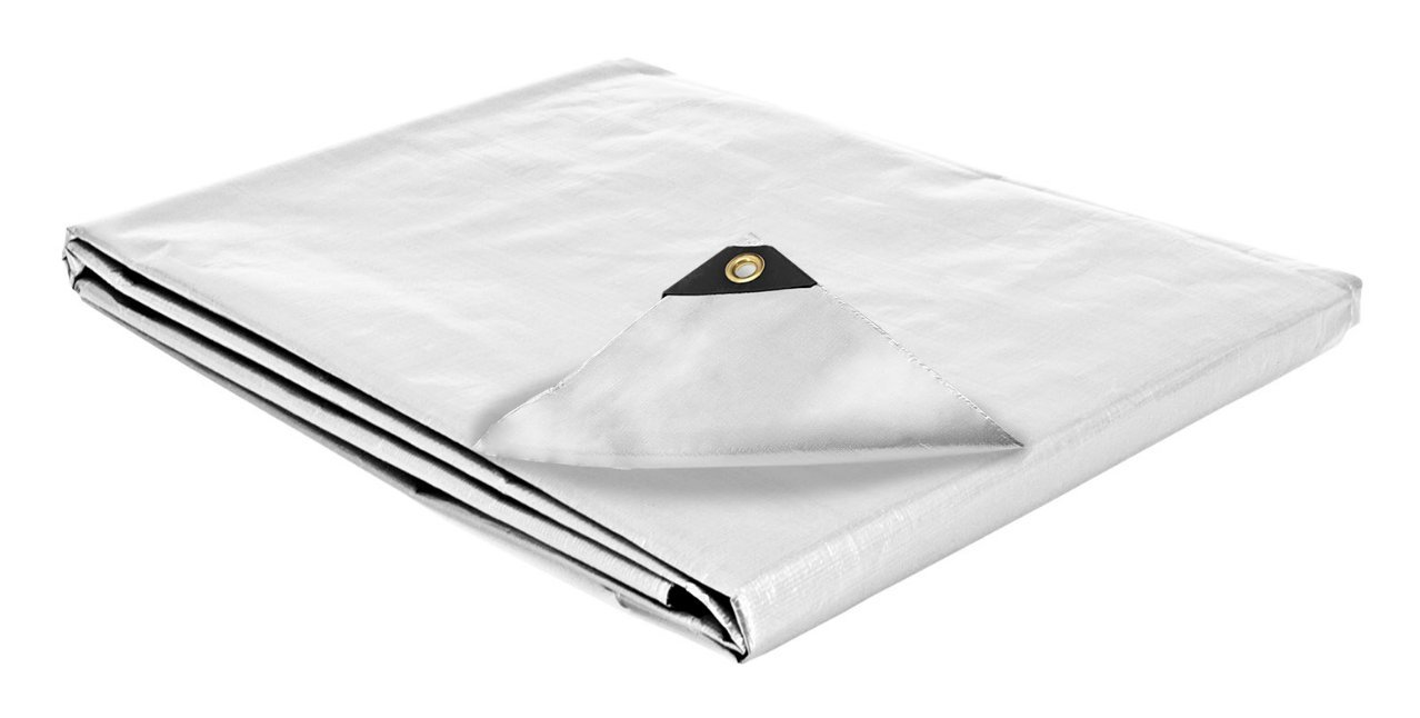 12 x 40 Heavy Duty Canopy Tarp - White by The Lost Woods