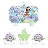 Amscan Party Time Disney Princess and the Frog Mini Character Birthday Candle Set, Pack of 4, Multi , 1.25'' Wax