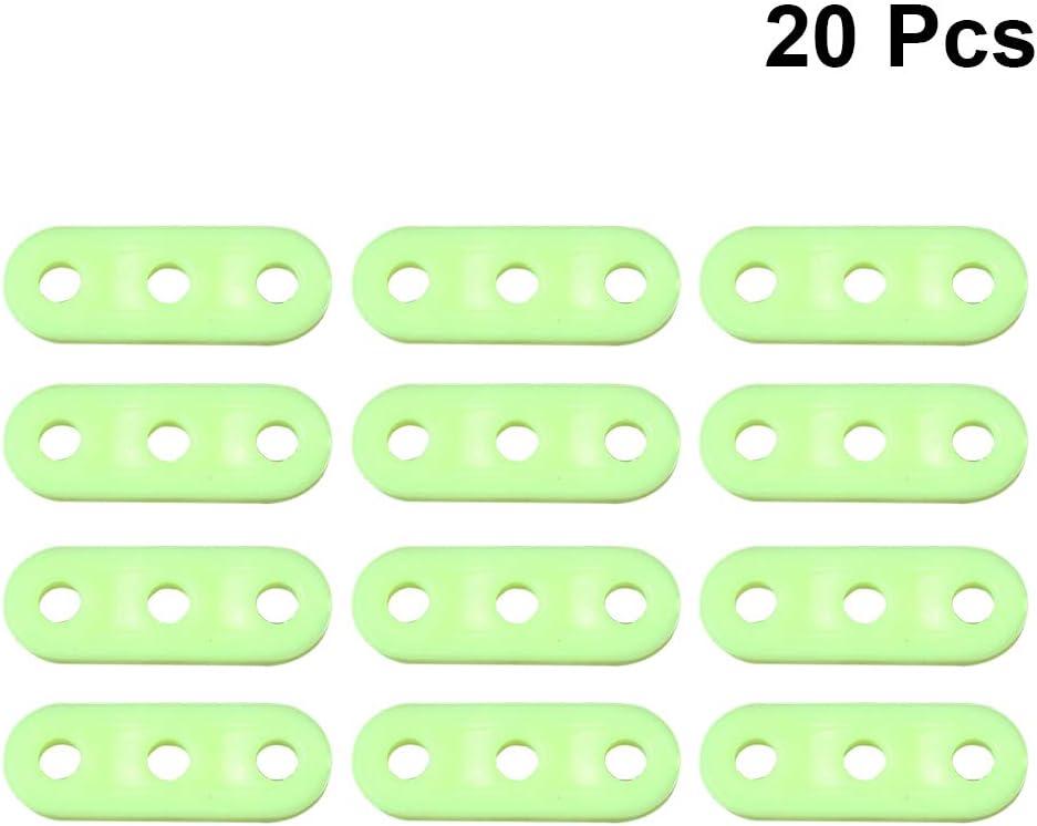 LIOOBO 20 STÜCKE Leucht 3 Loch Zelt Cord Seil Verschluss