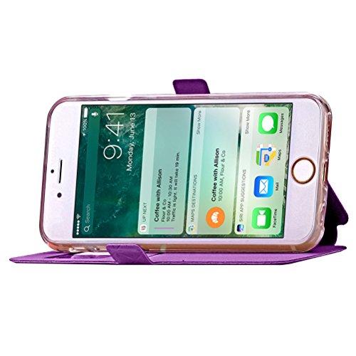 Funda Libro para iPhone 8 Plus,Manyip Suave PU Leather Cuero Con Flip Cover, Cierre Magnético, Función de Soporte,Billetera Case con Tapa para Tarjetas, Funda iPhone 8 Plus E