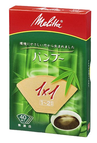 Melitta Bamboo Coffee Filter for 1-2 Cups [10 Packs 400 Filters] by Melitta (Melita)