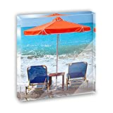 Beach Chair Ocean Vacation Acrylic Office Mini Desk Plaque Ornament Paperweight