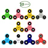 JESBAN 10PCS Fidget Spinner Hands spinner Toy Stress Reducer for Adults Kids Students EDC ADHD Anxiety (10Pcs Set 3)