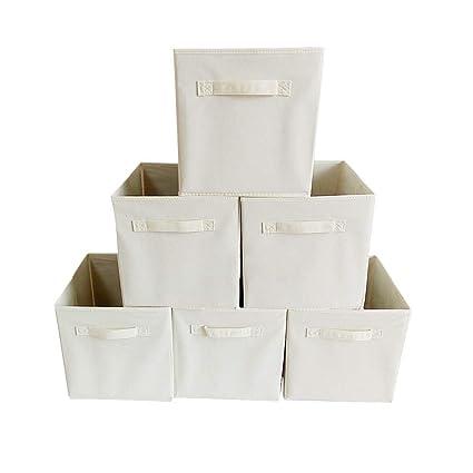 95415c07f1d5 Amazon.com: LiPing 6-Pack Dual Handle Foldable Cloth Storage Cube ...