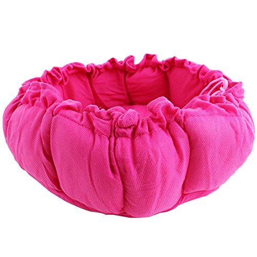 Alamana Fashion Pet Retractable Pumpkin Shape Soft Bed Dogs Cats Warm Kennel