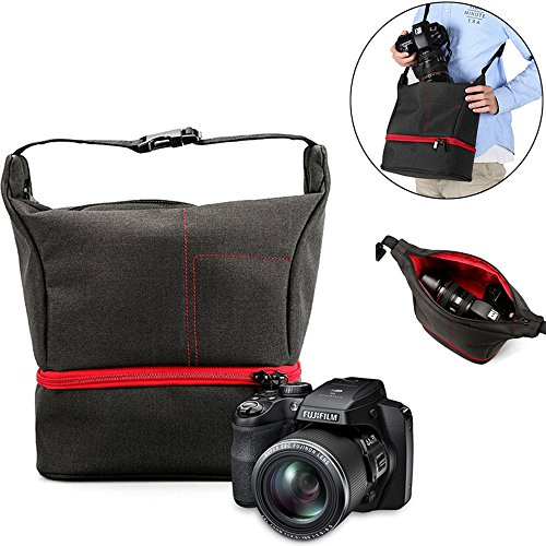 Mystery Waterproof & Shockproof Travel Camera Bag Accessories Photo Protective Carry Case Sling Bag Photography Camera Equipment Package Bags Shoulder Backpack for DSLR Mirrorless Camera -Smart Layout