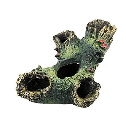 Bigoing Home - Adorno de Resina para Acuario, diseño de Cueva de pecera, decoración