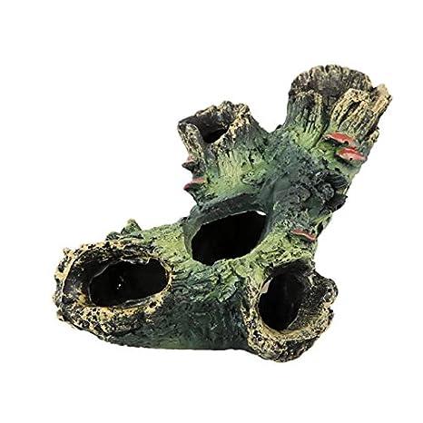 Bigoing Home - Adorno de Resina para Acuario, diseño de Cueva de pecera, decoración de Acuario, Cueva Oculta para pecera: Amazon.es: Productos para mascotas