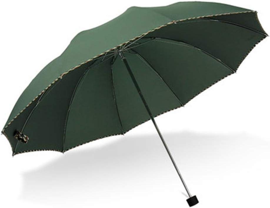 Llsdls Paraguas a Prueba de Viento Paraguas de Negocios Paraguas for la Lluvia Paraguas Plegable Impresión Doble Logotipo Personalizado Paraguas publicitario (Color : A)