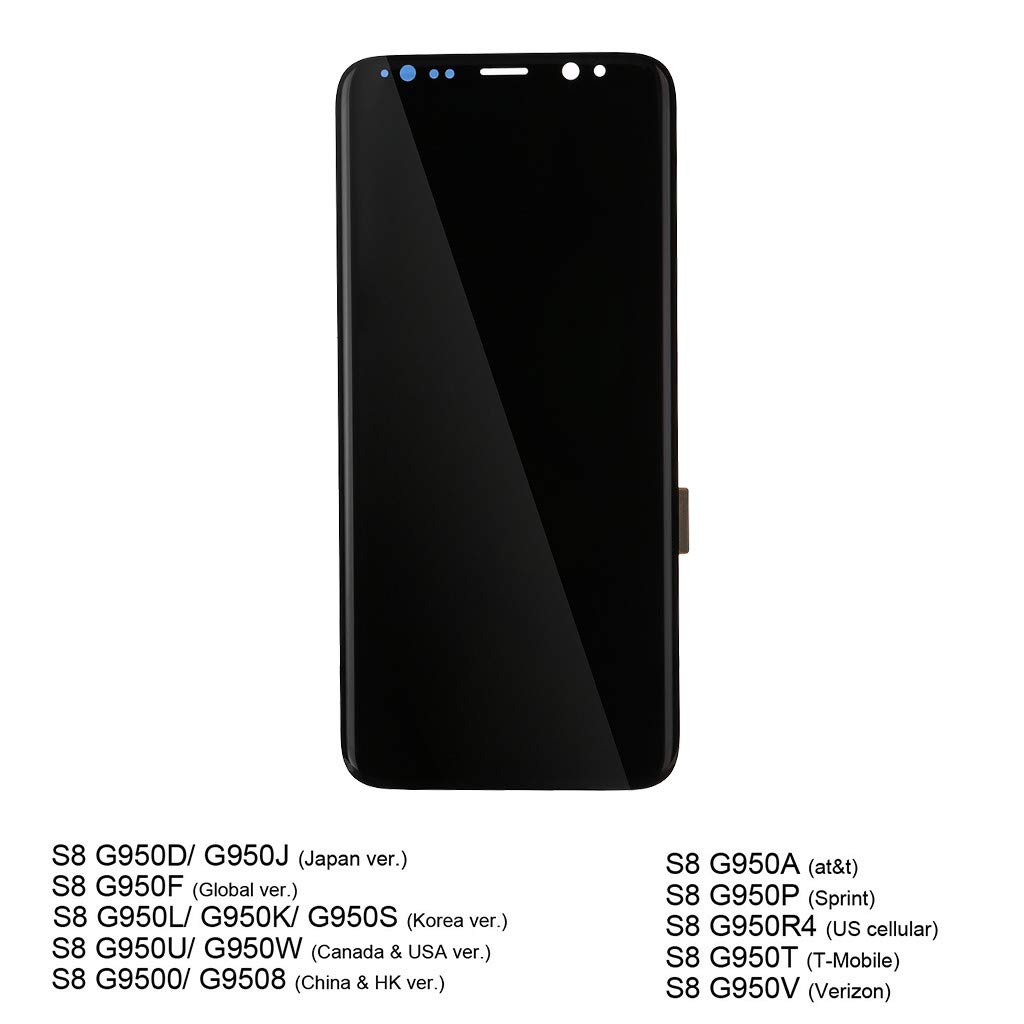 certainPL LCD Display Digitizer for Samsung Galaxy S8 Touch Screen Assembly (Black) by certainPL (Image #2)