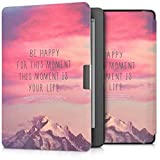 kwmobile Case for Kobo Aura Edition 2 - Book Style PU Leather Protective e-Reader Cover Folio Case - light pink violet coral