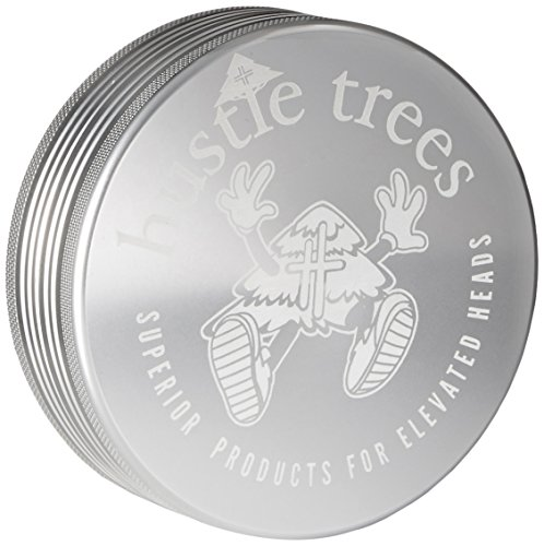 Hustle Trees Men's Two Piece 3.5 Inch Grinder, Shiny Aluminum, Large (Herb Grinder Aerospace)