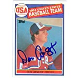 Don August autographed 1985 Topps Baseball Card Team USA Baseball #392 - Autographed Baseball Cards