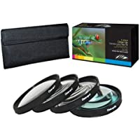 PLR Optics 72MM +1 +2 +4 +10 Close-Up Macro Filter Set with Pouch For The Canon Digital EOS Rebel SL1 (100D), T5i (700D), T5, T4i (650D), T3 (1100D), T3i (600D), T1i (500D), T2i (550D), XSI (450D), XS (1000D), XTI (400D), XT (350D), 1D C, 70D, 60D, 60Da, 50D, 40D, 30D, 20D, 10D, 5D, 1D X, 1D, 5D Mark 2, 5D Mark 3, 7D, 7D Mark 2, 6D Digital SLR Cameras Which Has This(28-135mm, 15-85mm, 18-200mm, 20mm, 35mm, 135mm, 85mm f/1.2) Canon Lens