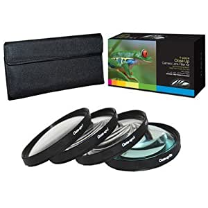 PLR Optics 58MM +1 +2 +4 +10 Close-Up Macro Filter Set with Pouch For The Canon Digital EOS Rebel SL1 (100D), T5i (700D), T5 (1200D), T4i (650D), T3 (1100D), T3i (600D), T1i (500D), T2i (550D), XSI (450D), XS (1000D), XTI (400D), XT (350D), 1D C, 70D, 60D, 60Da, 50D, 40D, 30D, 20D, 10D, 5D, 1D X, 1D, 5D Mark 2, 5D Mark 3, 7D, 7D Mark 2, 6D Digital SLR Camera Which Has Any Of These (18-55mm, 75-300mm, 50mm 1.4 , 55-200) Canon Lenses
