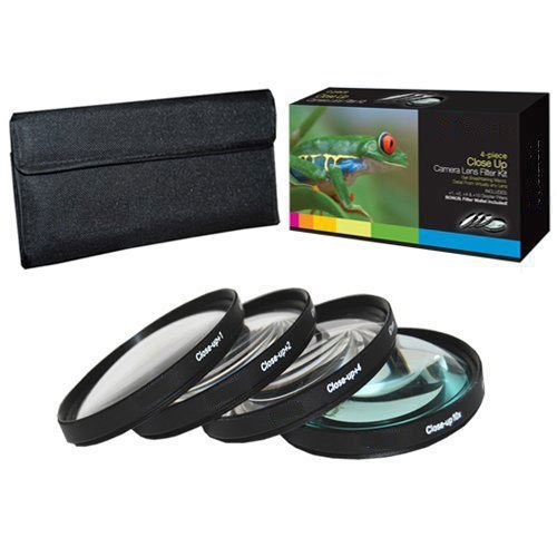 PLR Optics 4PC LENS-63 52mm +1 +2 +4 +10 Close-Up Macro Filter Set with Pouch (Macro Filter Set)