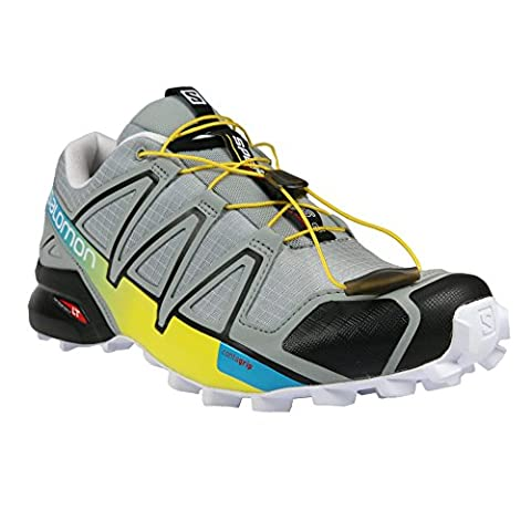 Salomon Men's Speedcross 4 Trail Running Shoe,Light Onix/Black/Corona Yellow,US - Goa Light