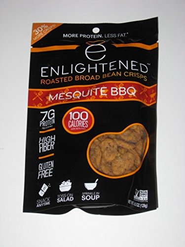 Mesquite Bean - ENLIGHTENED BROAD BEAN (FAVA BEANS) CRISPS 2-4.5 oz BAGS (MESQUITE BBQ)