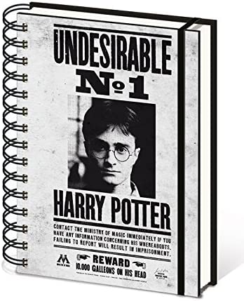 /Noir Pyramid International A5/Harry Potter Wanted Sirius Carnet de notess/
