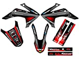 Senge Graphics 2015-2017 Honda CRF 150F/230F Surge Black Graphics kit