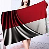 SeptSonne Made of 100% Premium Cotton Flag of INDONESIA Lightweight, High Absorbency L39.4 x W19.7 INCH