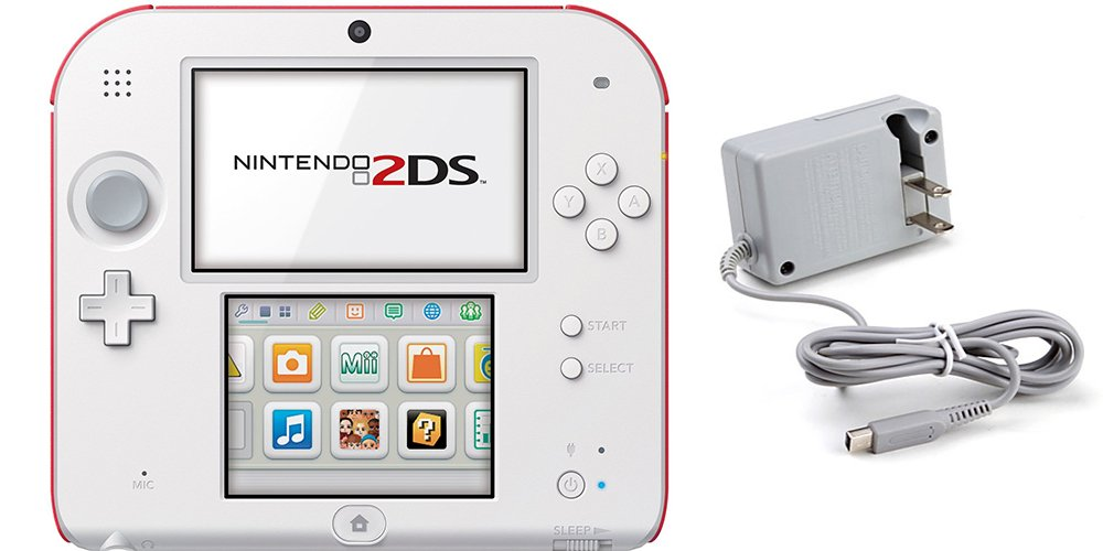 Nintendo 2DS Bundle (2 Items): Nintendo 2DS - New Super Mario Bros. 2 Edition and Tomee AC Adapter