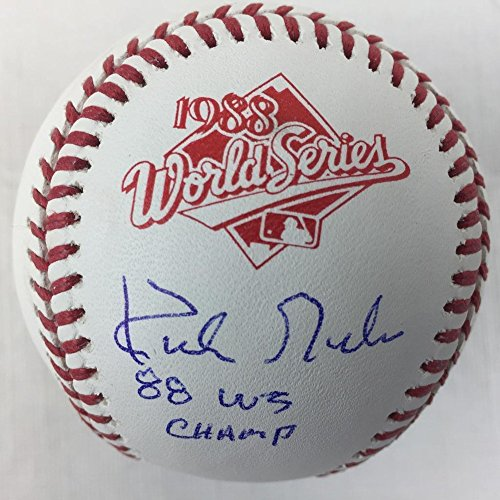 Champs World Series 1984 (Kirk Gibson 84 Ws Champs Signed Autograph 1984 World Series Baseball Beckett Dodgers)